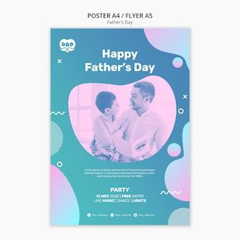 Kleurrijke vaders dag poster sjabloon
