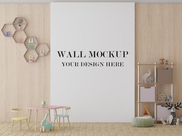 Kleuterschool muur mockup 3d visualisatie