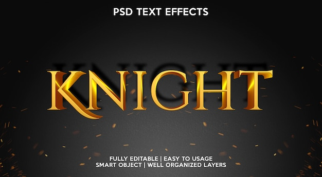 Knight text effect-sjabloon