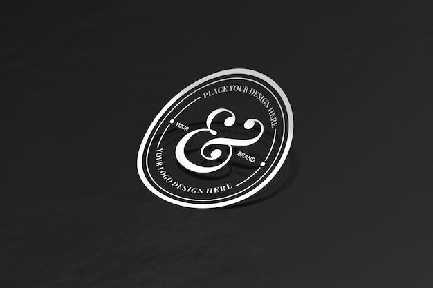 Knip sticker en logo mockup uit