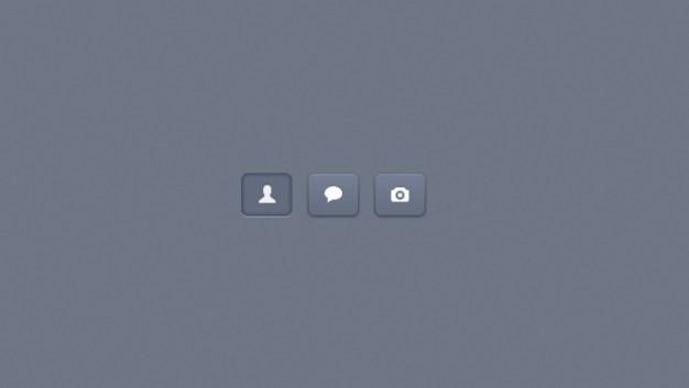 Knoppen voor het web ui-elementen psd template
