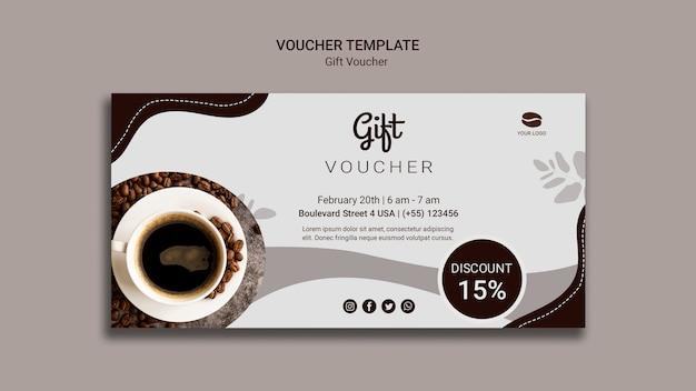 Koffie cadeaubon met korting