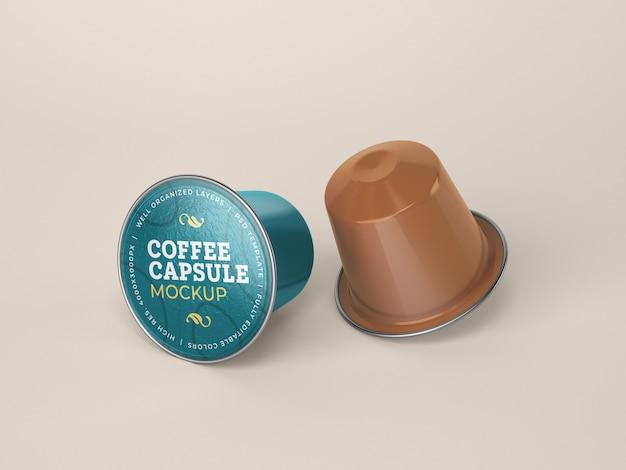 Koffie capsule mockup
