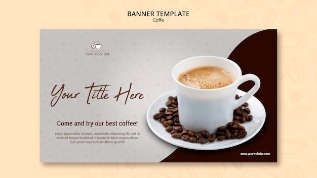 Koffie concept banner stijl