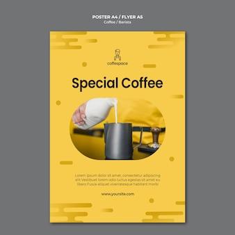 Koffie concept flyer sjabloon