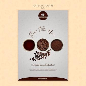 Koffie concept flyer stijl