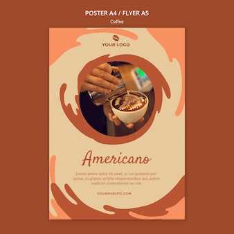 Koffie concept poster mock-up
