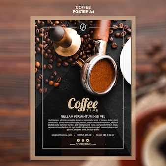 Koffie concept poster sjabloon