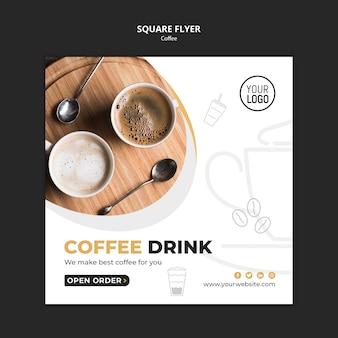Koffie flyer sjabloonontwerp