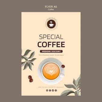 Koffie folder sjabloon