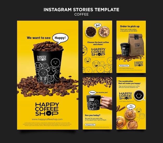 Koffie instagram-verhalen
