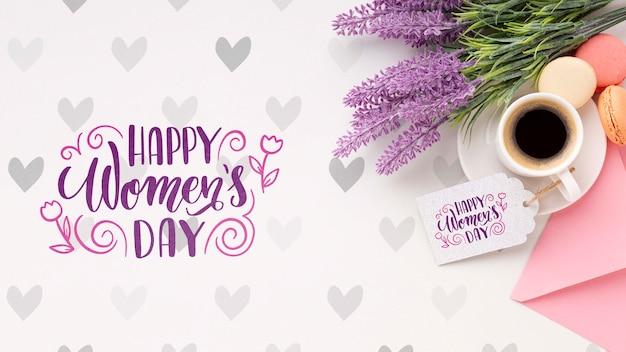 Koffie met lavendel voor de dagviering van vrouwen