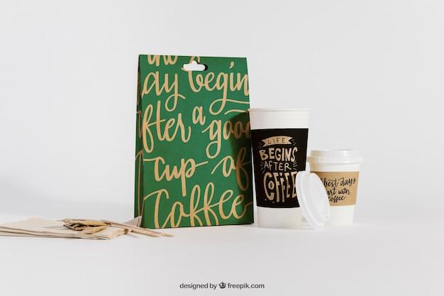 Koffie mockup