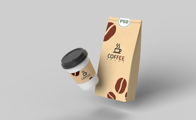 Koffie set mock up 3d render