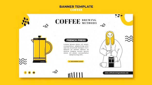 Koffie sjabloon voor spandoek