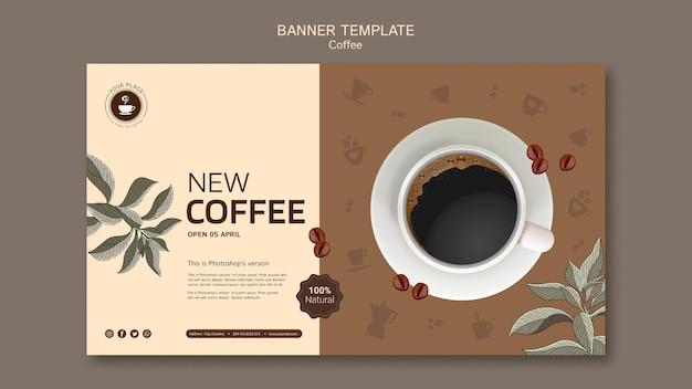 Koffie spandoeksjabloon