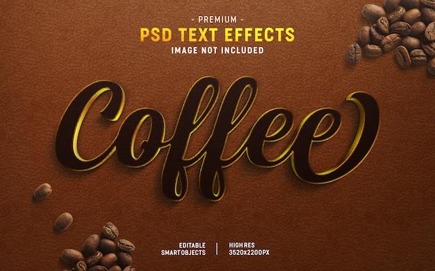 Koffie tekst effect generator