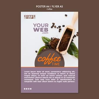 Koffie tijd poster sjabloon
