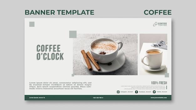 Koffie uur sjabloon voor spandoek