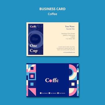 Koffie visitekaartje sjabloon