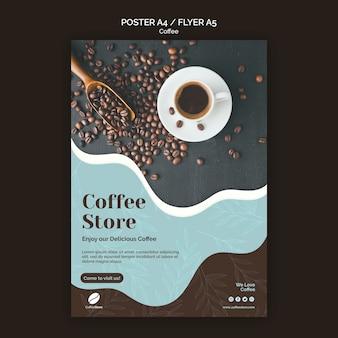 Koffie winkel poster sjabloon