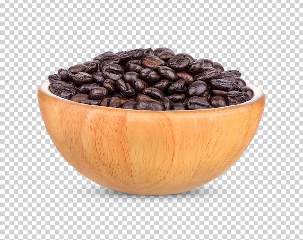 Koffiebonen geïsoleerd premium psd
