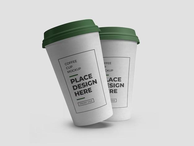 Koffiedrank beker verpakking mockup
