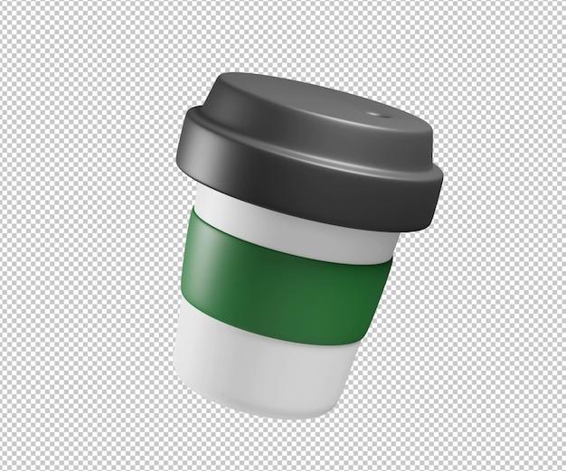 Koffiekopje 3d illustratie