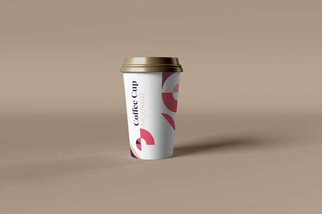Koffiekopje foto realistische mockup geïsoleerd