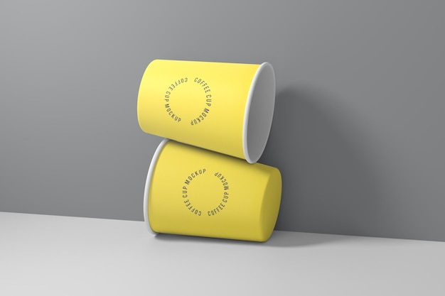 Koffiekopje mockup design in 3d-rendering