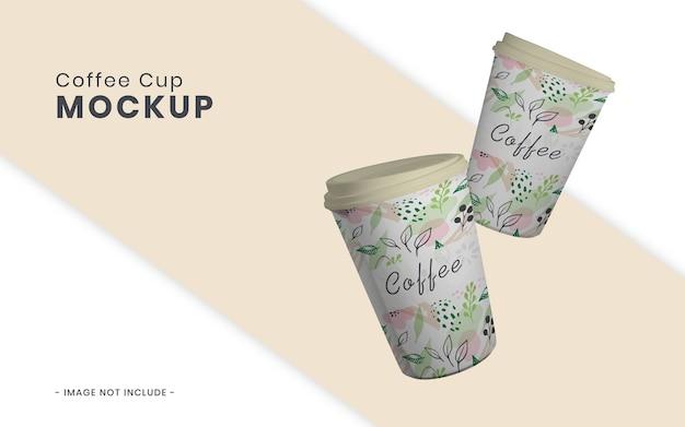 Koffiekopje mockup geïsoleerd