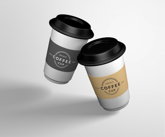 Koffiekopje mockup ontwerp