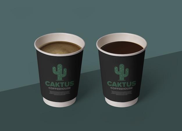 Koffiekopje mockup sjabloon