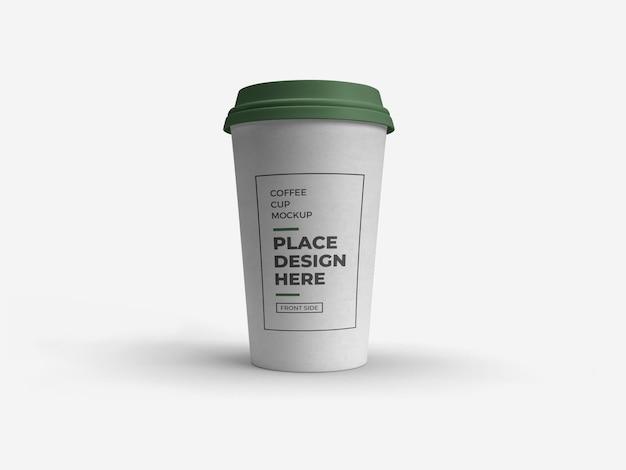 Koffiekopje verpakking mockup geïsoleerd