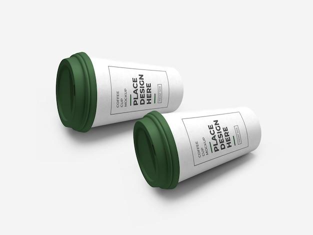 Koffiekopje verpakking mockup