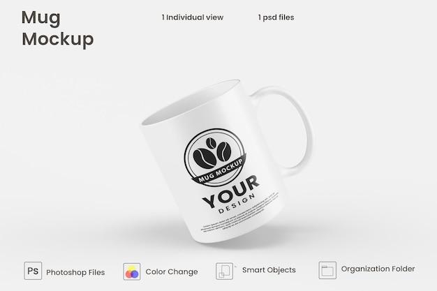 Koffiemok mockup ontwerp