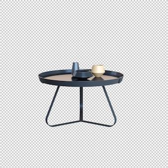 Koffietafel geïsoleerd op witte achtergrond