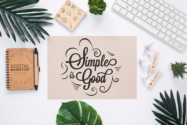 Koffietoetsenbordplanten en notebookmodel