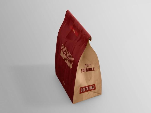 Koffiezak pakket mockup