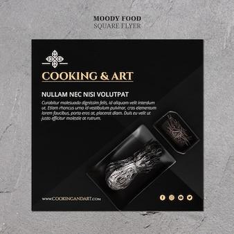 Koken en kunst flyer-thema