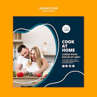 Koken thuis flyer thema