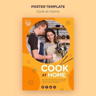 Koken thuis sjabloon poster