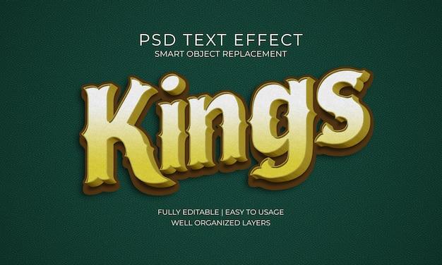 Koningen teksteffect