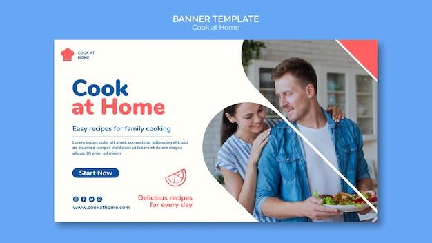 Kook thuis concept sjabloon voor spandoek