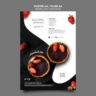 Kookboek poster sjabloon