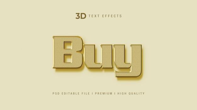 Koop 3d-tekststijleffectmodel