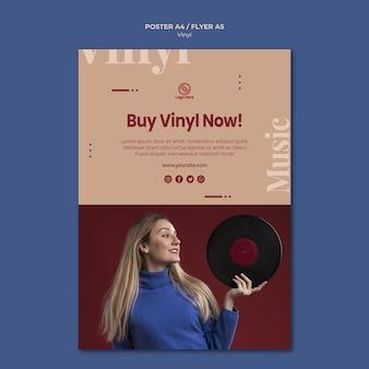Koop nu vinyl poster sjabloon