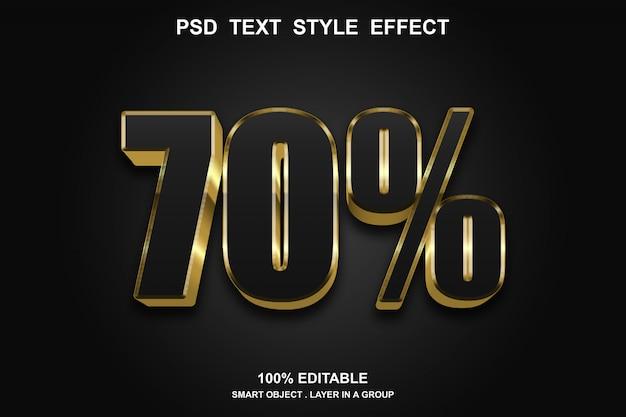 Korting teksteffect stijl bewerkbaar