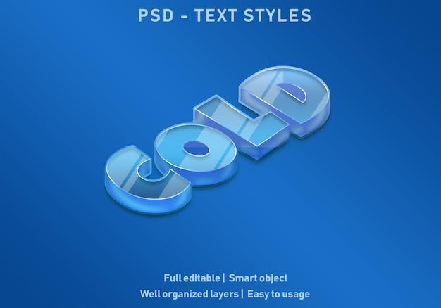 Koude teksteffectstijl