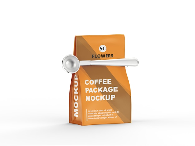 Kraft bag coffee mockup
